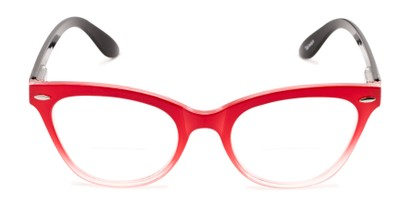 Front of The Mya Bifocal in Red Fade/Black