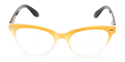 Front of The Mya Bifocal in Yellow Fade/Black