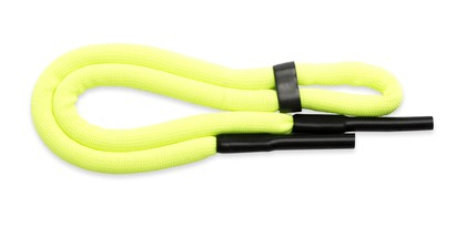 Angle of Neon Sporty Eyewear Retainer Cord in Neon Yellow, Women's and Men's  Neck Cords