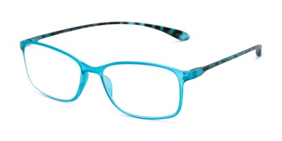 Angle of The Neptune in Blue/Tortoise, Women's and Men's Rectangle Reading Glasses