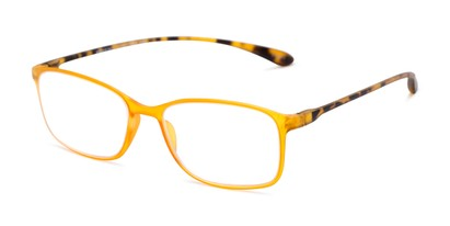 Angle of The Neptune in Orange/Tortoise, Women's and Men's Rectangle Reading Glasses