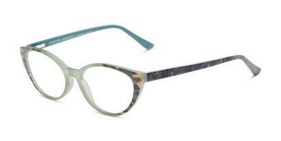 Angle of The Nina - Foster Grant for Readers.com in Teal Tortoise, Women's Cat Eye Reading Glasses