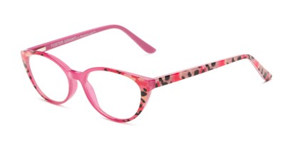 Angle of The Nina - Foster Grant for Readers.com in Berry Pink Tortoise, Women's Cat Eye Reading Glasses