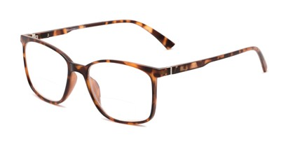 Angle of The Nola Bifocal in Tortoise, Women's and Men's Retro Square Reading Glasses