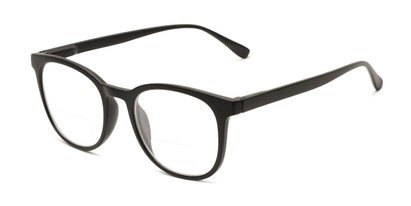 Angle of The Norwich Bifocal in Black, Women's and Men's Round Reading Glasses