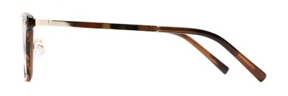 Side of The Nottingham Signature Reader in Brown/Gold