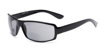 bac8376f498 Angle of The Oaklie Bifocal Reading Sunglasses in Black with Smoke