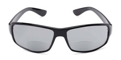 Front of The Oaklie Bifocal Reading Sunglasses in Black with Smoke