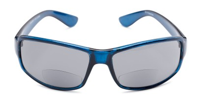 Front of The Oaklie Bifocal Reading Sunglasses in Dark Blue with Smoke