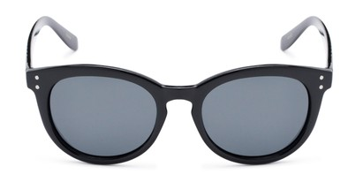 Front of The Offshore Unmagnified Sunglasses in Black with Grey