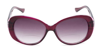 Front of The Olive Bifocal Reading Sunglasses in Purple with Smoke