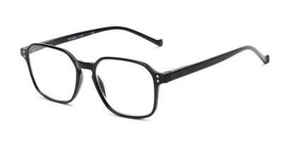 Angle of The Ollie in Black, Women's and Men's Square Reading Glasses