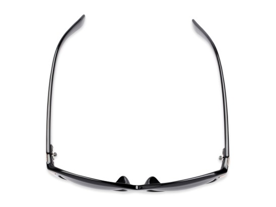 Overhead of The Ophelia Bifocal Reading Sunglasses in Glossy Black with Smoke