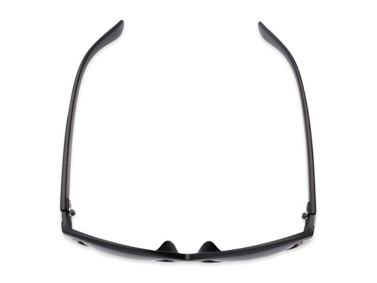 Overhead of The Ophelia Bifocal Reading Sunglasses in Matte Black with Smoke