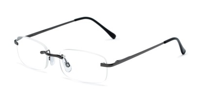 Angle of The Orion in Gunmetal, Women's and Men's Rectangle Reading Glasses
