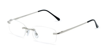 Angle of The Orion in Silver, Women's and Men's Rectangle Reading Glasses