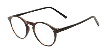 Angle of The Ormand in Brown Tortoise/Matte Black, Women's and Men's Round Reading Glasses