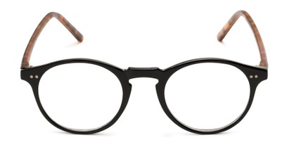 Front of The Ormand in Black/Matte Brown Tortoise
