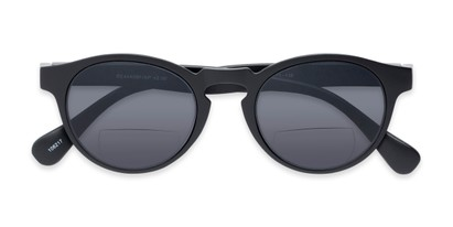 Folded of The Ortiz Bifocal Reading Sunglasses in Black with Smoke