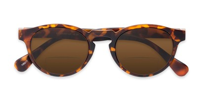 Folded of The Ortiz Bifocal Reading Sunglasses in Tortoise with Amber