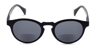 Front of The Ortiz Bifocal Reading Sunglasses in Black with Smoke