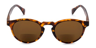 Front of The Ortiz Bifocal Reading Sunglasses in Tortoise with Amber