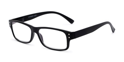 Angle of The Otto Computer Reader in Black, Women's and Men's Rectangle Reading Glasses