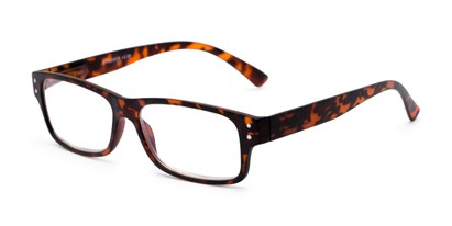 Angle of The Otto Computer Reader in Tortoise, Women's and Men's Rectangle Reading Glasses