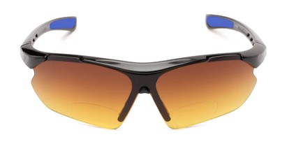 Front of The Outback Driving Bifocal Reading Sunglasses in Black/Blue with Amber