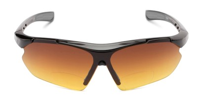 Front of The Outback Driving Bifocal Reading Sunglasses in Black/Grey with Amber
