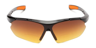 Front of The Outback Driving Bifocal Reading Sunglasses in Black/Orange with Amber