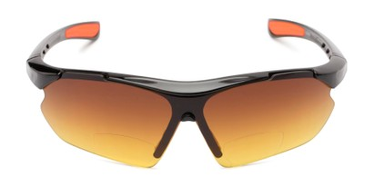 Front of The Outback Driving Bifocal Reading Sunglasses in Black/Red with Amber