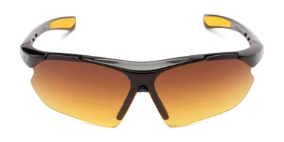 Front of The Outback Driving Bifocal Reading Sunglasses in Black/Yellow with Amber