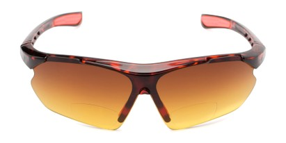 Front of The Outback Driving Bifocal Reading Sunglasses in Tortoise/Red with Amber