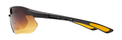 Side of The Outback Driving Bifocal Reading Sunglasses in Black/Yellow with Amber