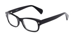 Angle of The Parker Customizable Reader in Black, Women's and Men's Retro Square Reading Glasses