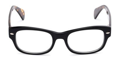 Front of The Parker Customizable Reader in Black and Tortoise