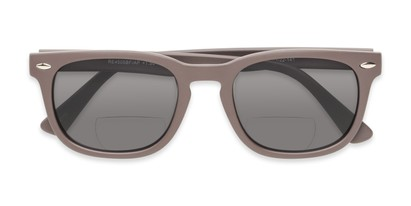 Folded of The Patio Bifocal Reading Sunglasses in Grey
