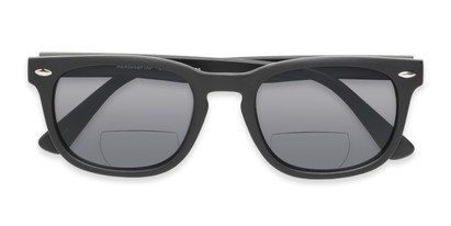 Folded of The Patio Bifocal Reading Sunglasses in Matte Black