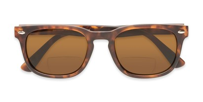 Folded of The Patio Bifocal Reading Sunglasses in Tortoise