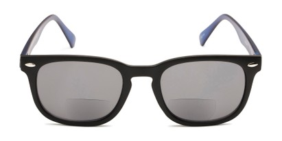 Front of The Patio Bifocal Reading Sunglasses in Black/Blue