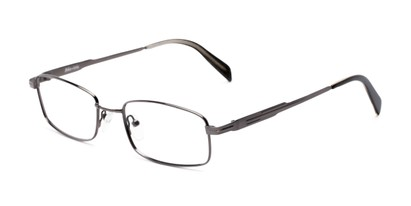 Angle of Patton by felix + iris in Gunmetal, Women's and Men's Rectangle Reading Glasses
