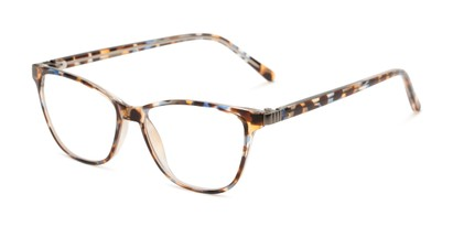 Angle of The Patty - Foster Grant for Readers.com in Blue Tortoise, Women's Cat Eye Reading Glasses