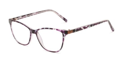 Angle of The Patty - Foster Grant for Readers.com in Purple Tortoise, Women's Cat Eye Reading Glasses