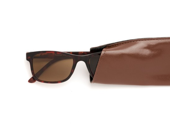 Detail of The Peace Polarized Magnetic Bifocal Reading Sunglasses in Tortoise with Amber