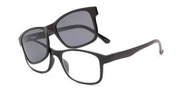 a16512fab10a Angle of The Peace Polarized Magnetic Bifocal Reading Sunglasses in Black  with Smoke, Women's and