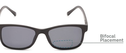 Detail of The Peace Polarized Magnetic Bifocal Reading Sunglasses in Black with Smoke