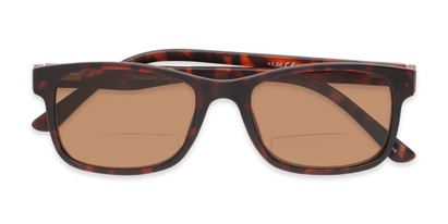Folded of The Peace Polarized Magnetic Bifocal Reading Sunglasses in Tortoise with Amber