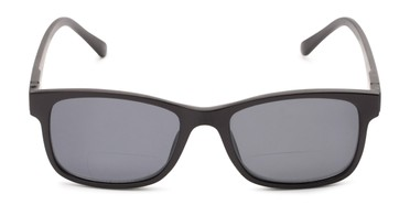 0e3e0e46bc7 Front of The Peace Polarized Magnetic Bifocal Reading Sunglasses in Black  with Smoke