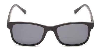 Front of The Peace Polarized Magnetic Bifocal Reading Sunglasses in Black with Smoke